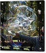 Bubble Blowr Of Central Park Acrylic Print