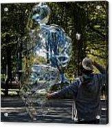Bubble Boy Of Central Park Acrylic Print