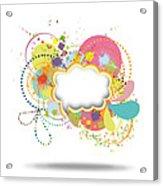 Bubble Speech Acrylic Print