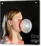 Bubblegum Bubble 2 Of 6 Acrylic Print