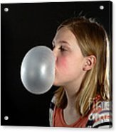 Bubblegum Bubble 3 Of 6 Acrylic Print