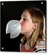Bubblegum Bubble 4 Of 6 Acrylic Print