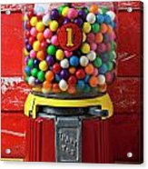 Bubblegum Machine And Gum Acrylic Print