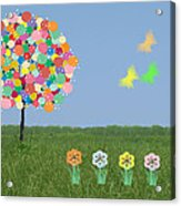 Bubblegum Tree Acrylic Print