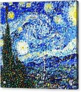 Bubbly Starry Night Acrylic Print