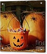 Bucket Filled With Halloween Candy Acrylic Print