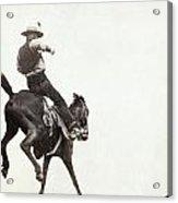 Bucking Bronco, C1888 Acrylic Print