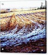 Bucks County Late Winter Fields Acrylic Print