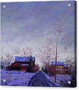 Bucks County Winter Twilight Acrylic Print