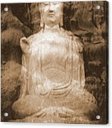 Buddha And Ancient Tree Acrylic Print