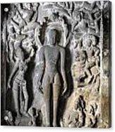 Buddha At Elora Caves India Acrylic Print