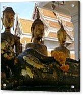 Buddha Figures Acrylic Print