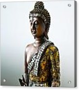 Buddha Statue With A Golden Robe Acrylic Print