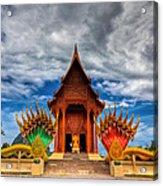 Buddha Temple Acrylic Print