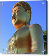 Buddha With Sunset Acrylic Print