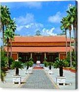 Buddhist Temple In Houston Acrylic Print