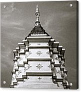Buddhist Temple Wat Luang In Chiang Khong In Thailand Acrylic Print