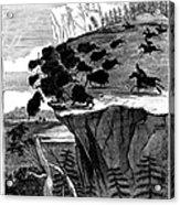 Buffalo Hunt, 1834 Acrylic Print