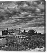 Buffalo Mills Under Clouds Acrylic Print