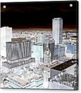 Buffalo New York Aerial View Inverted Effect Acrylic Print by Rose Santuci-Sofranko