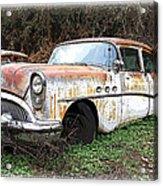 Buick Yard Acrylic Print by Steve McKinzie