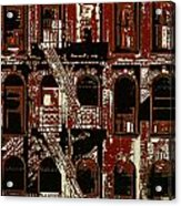 Building Facade In Brown And Red Acrylic Print