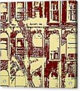 Building Facade Line Art Acrylic Print