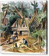 Building Houses, 17th C Acrylic Print