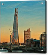 Building Shard Acrylic Print by Jasna Buncic