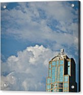Building With Its Head In The Clouds Acrylic Print