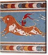 Bull-leaping Fresco From Minoan Culture Acrylic Print