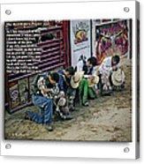 Bull Riders Prayer - With Prayer Text Acrylic Print