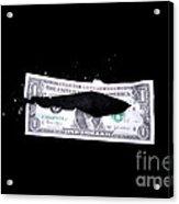 Bullet Hitting A Dollar Bill Acrylic Print
