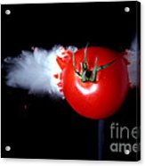 Bullet Hitting A Tomato Acrylic Print