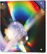 Bundle Of Optical Fibres Conducting Light Acrylic Print