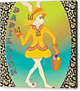 Bunnie Girls- Papillion- 4 Of 4 Acrylic Print