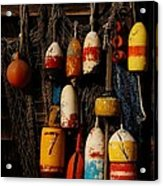 Buoys On Fishing Shack - Greeting Card Acrylic Print