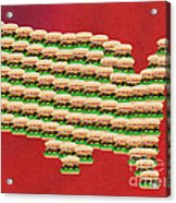 Burger Town Usa Map Red Acrylic Print