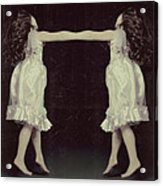 Burlesque Twins Acrylic Print by Tove Jessica Frank