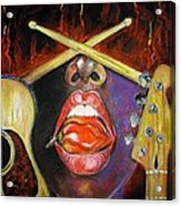 Burning Gums Acrylic Print by Yxia Olivares
