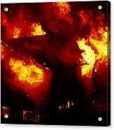 Burning House Acrylic Print