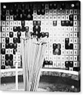Burning Incense Joss Sticks In Columbarium Po Fook Hill Cemetery Sha Tin New Territories China Acrylic Print by Joe Fox