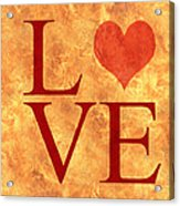 Burning Love Acrylic Print