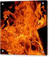 Burning Swirls Acrylic Print