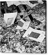 Burnt Remains Of Joss Paper Offerings In The Furnace In A  Monastery Sha Tin New Territories Acrylic Print by Joe Fox