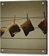 Burnt Toast Hanging On Clothesline Acrylic Print