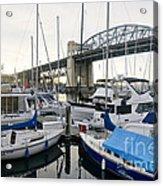 Burrard Marina Street Bridge Downtown Vancouver Bc Canada Acrylic Print