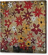 Burst Of Flowers Yellow And Red Acrylic Print