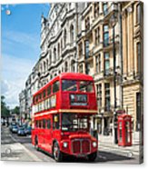 Bus On Piccadilly Acrylic Print