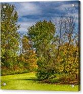 Busch Wildlife Swampy Autumn Acrylic Print by Bill Tiepelman
